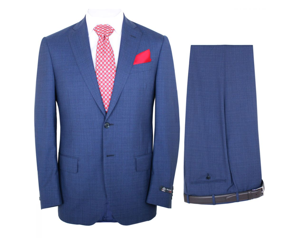 Robert Old Loro Piana Fresco Check Merino Wool Two Piece Suit