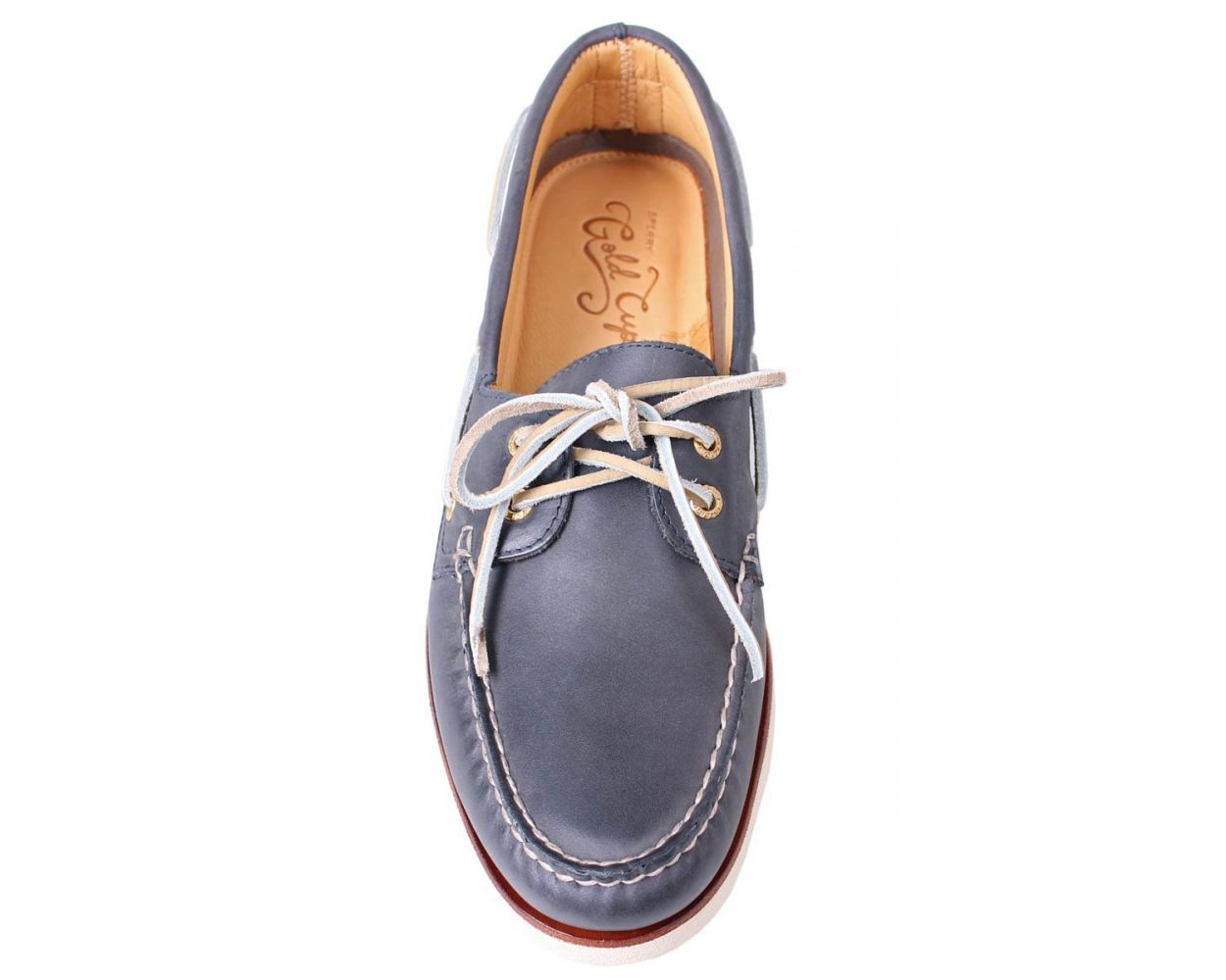 Sperry Navy Leather Gold Cup Boat Shoe