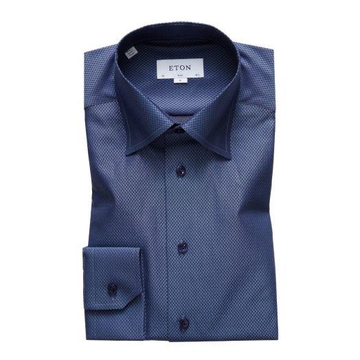 Blue Herringbone Twill Shirt