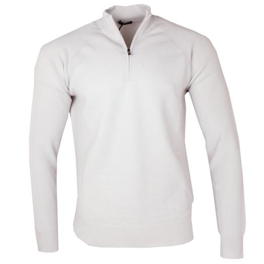 Cream 1/4 Zip Wool Sweater
