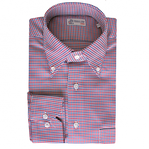 Houndstooth Pure Cotton Long Sleeve Shirt