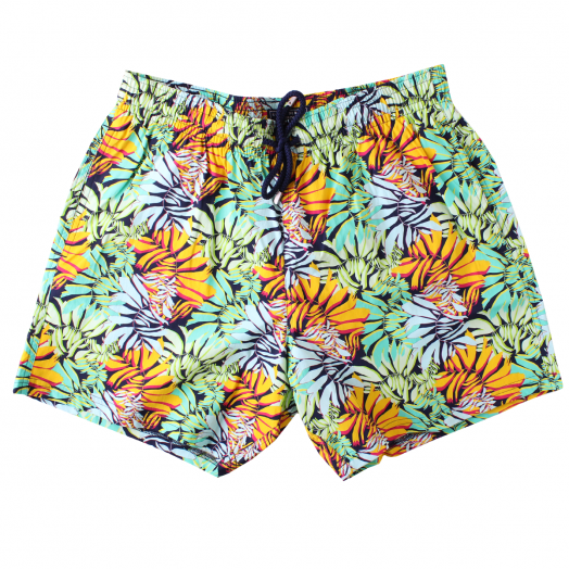 Midnight Blue 'Jungle' Moorise Swim Shorts