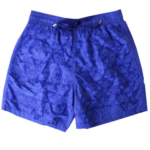 Royal Blue Water Reactive 'Crabs' Moorea Swim Shorts