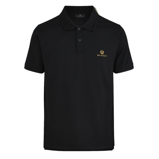Black Short Sleeved Polo Shirt