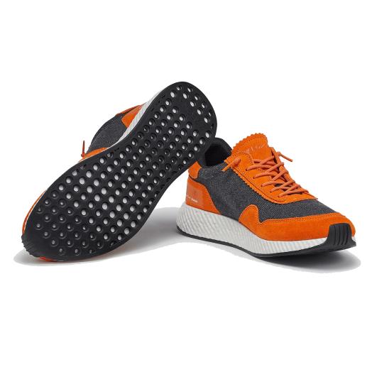 Grey & Orange TECHMERINO™ Piuma Sneakers