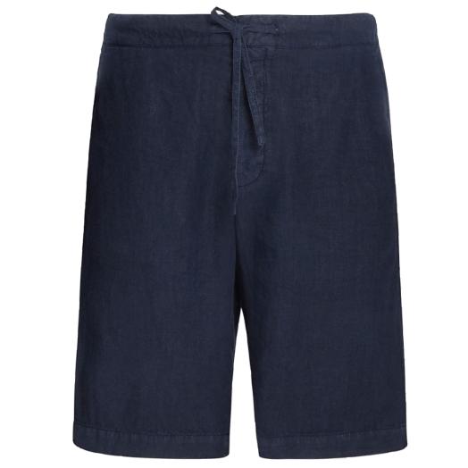 Navy Blue Linen Shorts