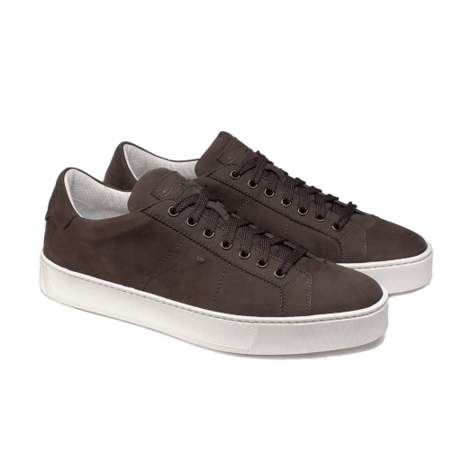 Dark Brown Suede Sneakers