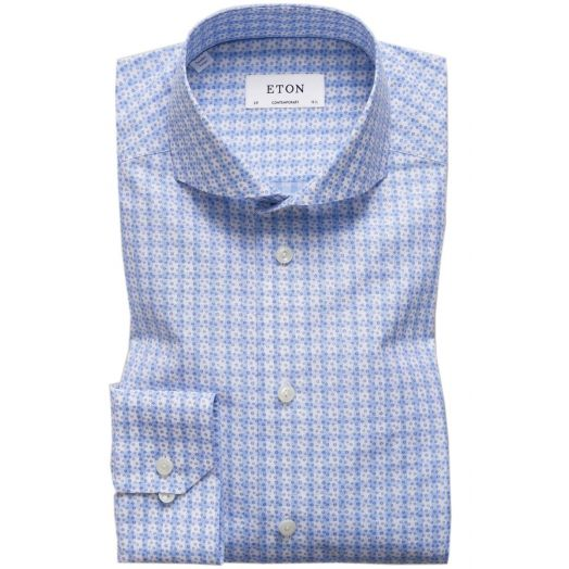 Floral Gingham Check Contemporary Fit Shirt