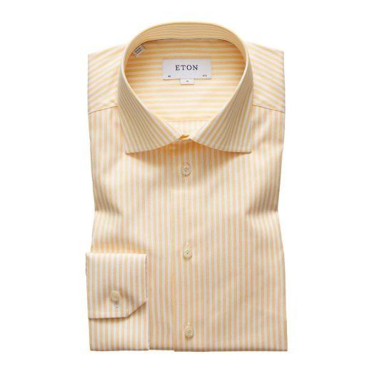 Yellow & White Stripe Cotton Shirt