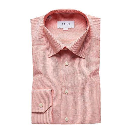 Orange Micro Stripe Slim Fit Shirt