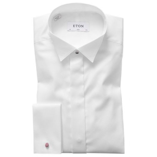 White Wing Collar Evening Slim Fit Shirt