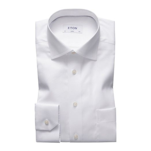 White Signature Twill Classic Fit Shirt