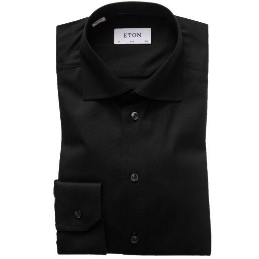 Black Signature Twill Slim Fit Shirt