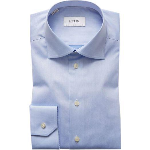 Light Blue Signature Twill Slim Fit Shirt