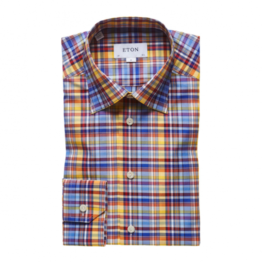 Multi Check Cotton Contemporary Fit Shirt