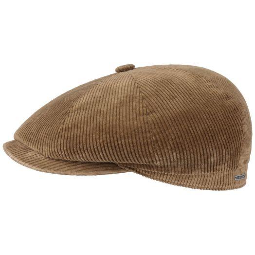 Beige Hatteras Classic Corduroy Flat Cap