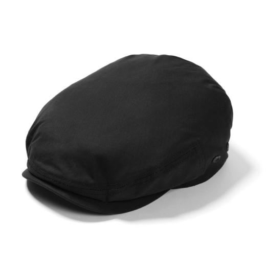 Black Waxed Cotton Driver Cap