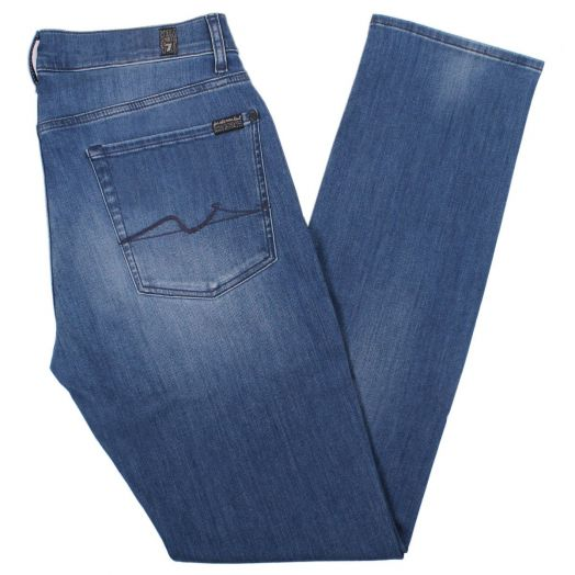 Mid Blue Slimmy Luxe Performance Jeans