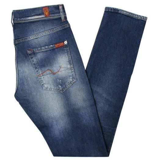 Distressed Light Blue Ronnie Cotton Jeans
