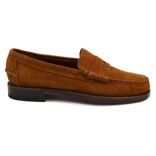 Cuoio Brown Classic Dan Suede Penny Loafer