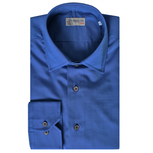 Royal Blue Pure Cotton Long Sleeve Shirt