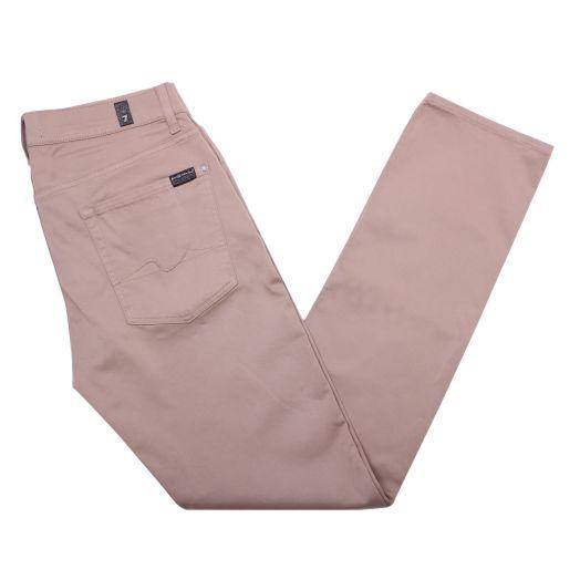 Sateen Beige Luxe Performance Slimmy Jeans