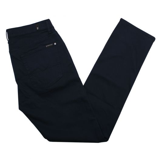 Sateen Navy Luxe Performance Slimmy Jeans