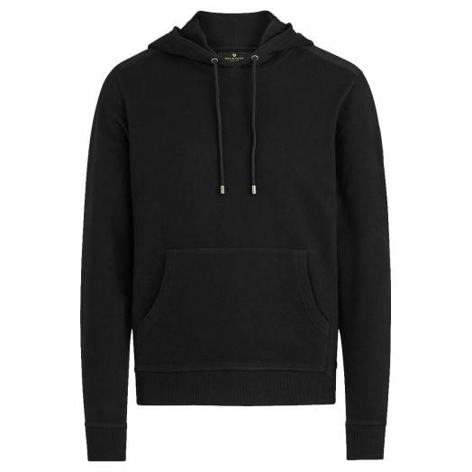Black Jarrow Jersey Cotton Pullover Hoodie