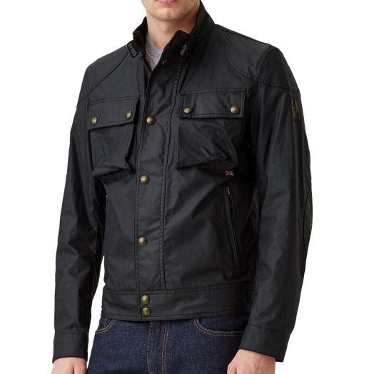 Black Racemaster 6oz Waxed Cotton Jacket