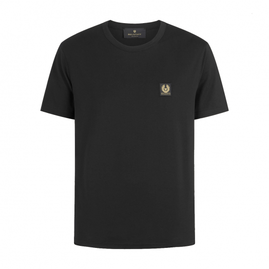 Black Short Sleeved Jersey Cotton T-Shirt