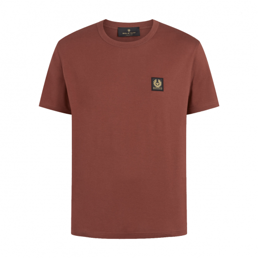 Burnished Red Short Sleeved Jersey Cotton T-Shirt