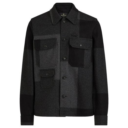 Charcoal Forge Melton Wool Overshirt