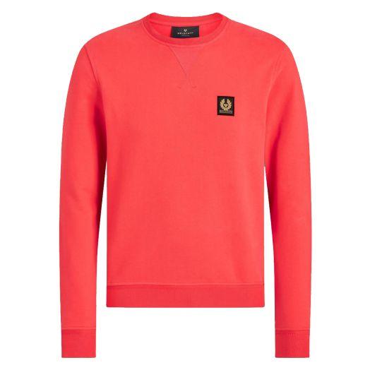 Dark Coral Jersey Cotton Crew Neck Sweatshirt