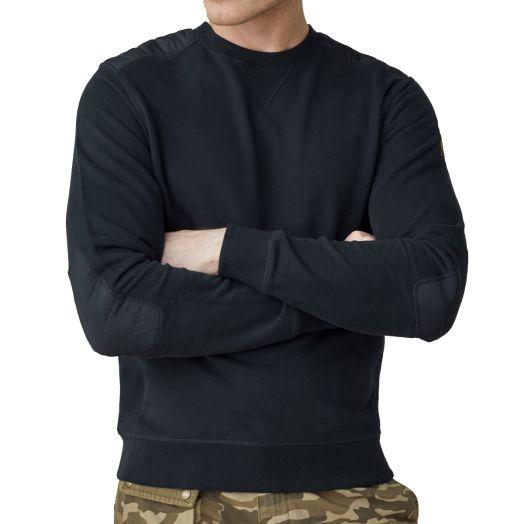 Dark Ink Jarvis Jersey Cotton Crewneck Sweatshirt