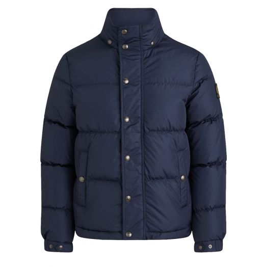 Dark Navy Dome Solid Puffer Jacket