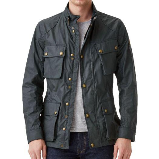 Dark Navy Fieldmaster 6oz Waxed Cotton Jacket