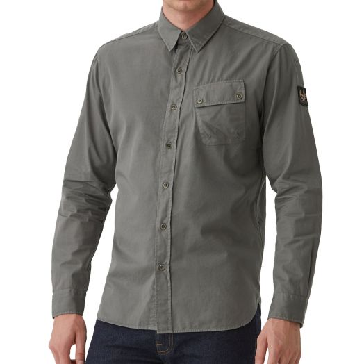 Granite Grey Pitch Cotton Twill Shirt