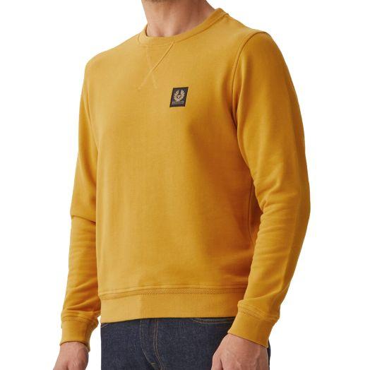 Harvest Gold Crewneck Jersey Cotton Sweatshirt