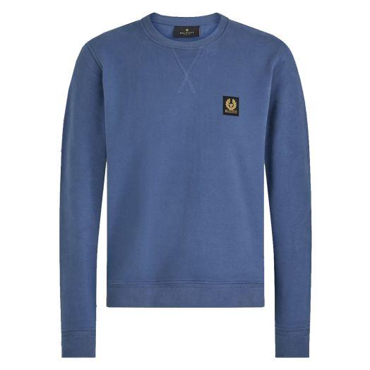 Racing Blue Jersey Cotton Crew Neck Sweatshirt