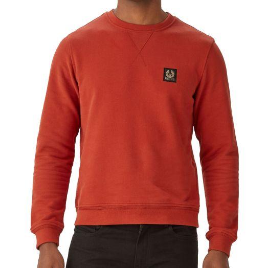 Red Ochre Crewneck Jersey Cotton Sweatshirt