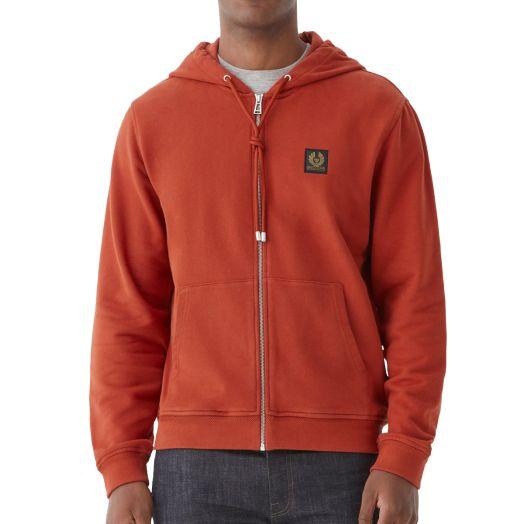 Red Ochre Jersey Cotton Hoodie