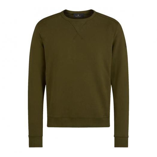 Salvia Jarvis Jersey Cotton Crewneck Sweatshirt