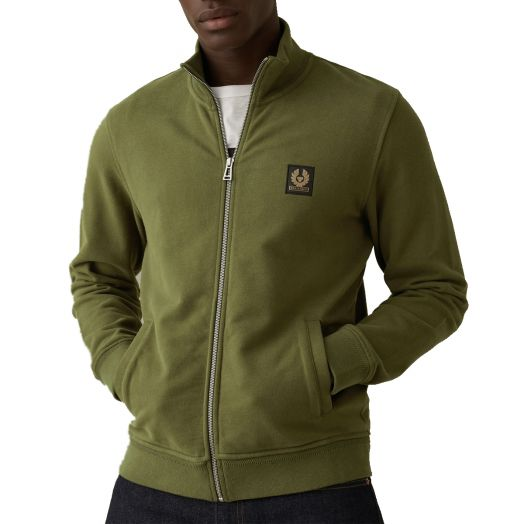 Salvia Zip Through Cotton Sweatshirt