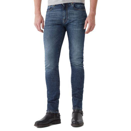 Washed Indigo Longton Slim Fit Denim Jeans