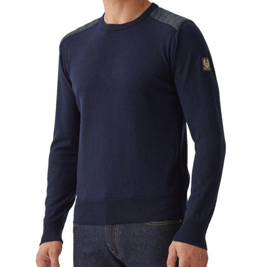 Washed Navy Kerrigan Crewneck Wool Sweater