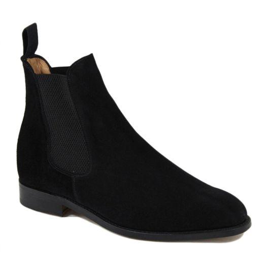 Marylebone Black Suede Chelsea Boot