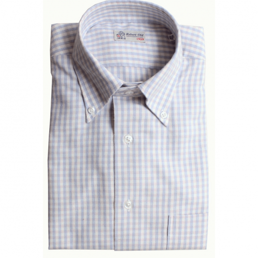 Blue & Pink Check Premium Cashmerello Shirt