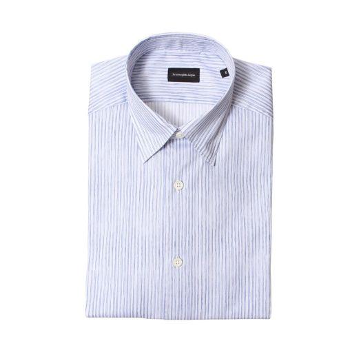 Blue & White Striped Print Shirt