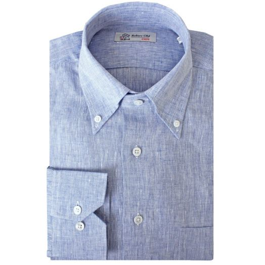 Blue Pure Irish Linen Shirt