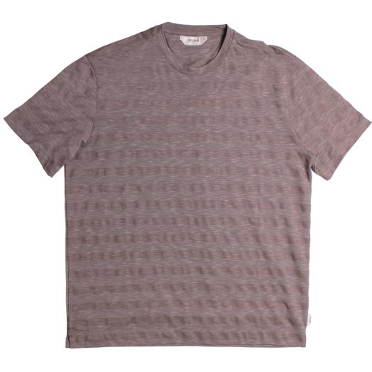 Brown Striped Cotton T-Shirt